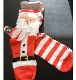 Christmas Santa Claus Womens Socks 2pk