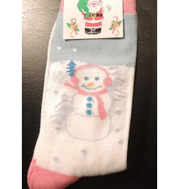 Christmas Womens Socks Snowperson