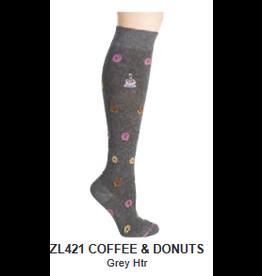 Davco Dr. Motion Compression Socks - Coffee & Donuts