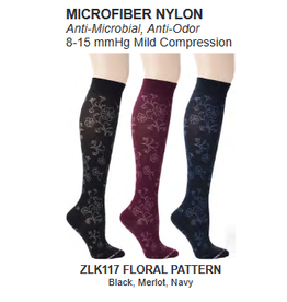 Davco Womens Compression Socks Floral Pattern