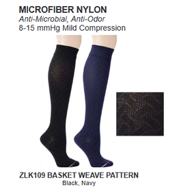 Davco Womens  Mild Compression Socks  Basket Weave