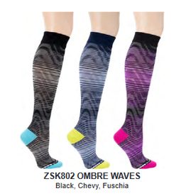 Davco Sport Compression Socks Size 3 Ombre Waves