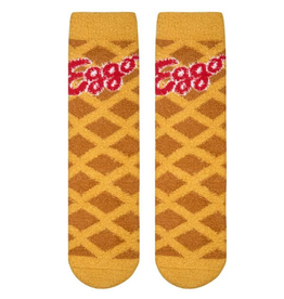Cool Socks Womens Eggo Waffles Fuzzy Socks