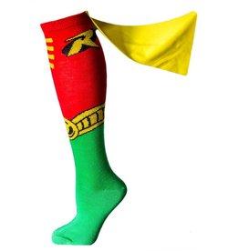 Robin Cape Jrs Red Knee High Socks