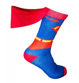 DC Superman Costume with Cape Crew Socks