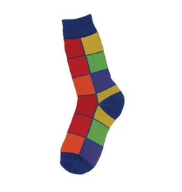 Foot Traffic Mens Bright Squares Socks