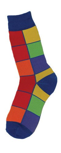 Foot Traffic Foot Traffic Mens Bright Squares Socks