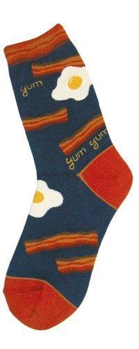 Foot Traffic Foot Traffic Women s Bacon Themed Socks 2c2cd5f26a