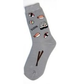 Foot Traffic Womens Sushi Socks Grey