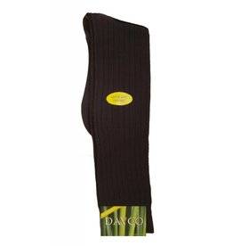 Davco Bamboo Ribbed KH Socks BRN