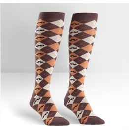 Sock it to Me SITM Women's Argyle Mustache Socks