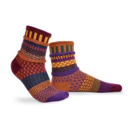 Solmate Solmate Adult Crew Socks Fall Folliage Large