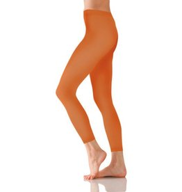 Foot Traffic Microfiber Footless Tights Orange O/S