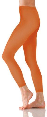 Foot Traffic Foot Traffic Microfiber Footless Tights Orange O/S