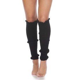Foot Traffic Cable Knit Leg Warmers Black