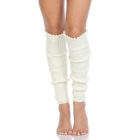 Foot Traffic Cable Knit Leg Warmers Ivory