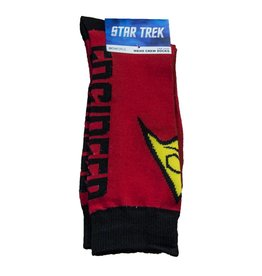 Red Uniform Crew Sock