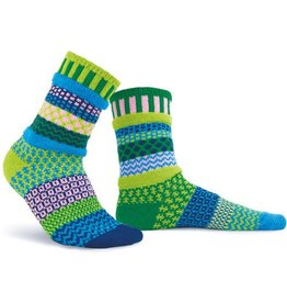 Solmate Solmate Adult Crew Socks Water Lily Medium