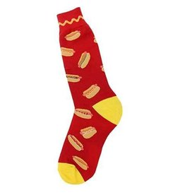 Foot Traffic Mens Hot Dog Socks