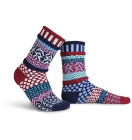 Solmate Solmate Adult Crew Socks Stars and Stripes M