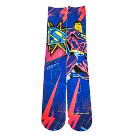 DC Superman Black Light Sublimated Crew Socks