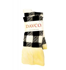 Davco Buffalo Plaid w/Flounce Top OTK IVORY