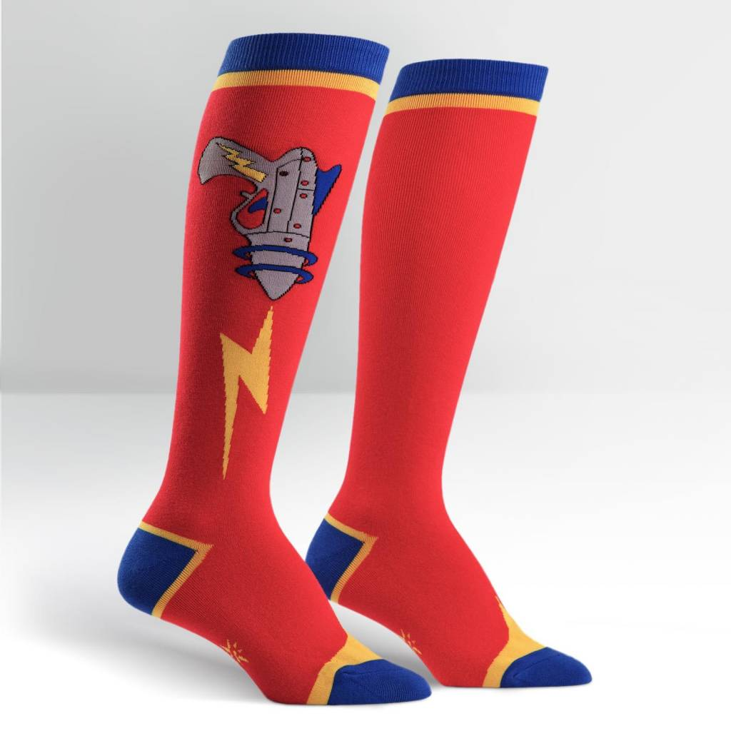 Sock it to Me Raygun Womens Knee High Socks