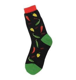 Foot Traffic Womens Hot Peppers Socks