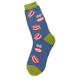 Foot Traffic Womens Chatty Teeth Socks