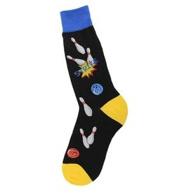 Foot Traffic Mens Bowling Strike Socks