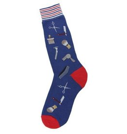 Foot Traffic Mens Barber Shop Socks