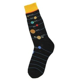 Foot Traffic Mens Solar System Planet Socks