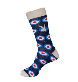 Playboy Mens Bulls-Eye Playboy Socks