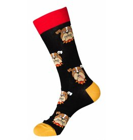 Foot Traffic Mens Bulldog Socks