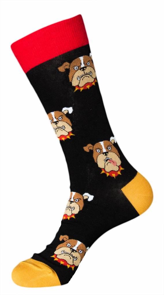 Foot Traffic Foot Traffic Mens Bulldog Socks