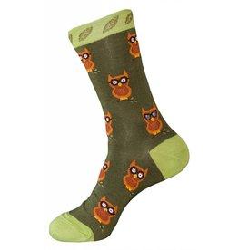 Foot Traffic Womens Owl Pattern Socks