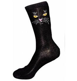Foot Traffic Womens Black Cat Socks