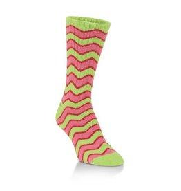 World's Softest Socks Women's Crew Socks Zig Zag
