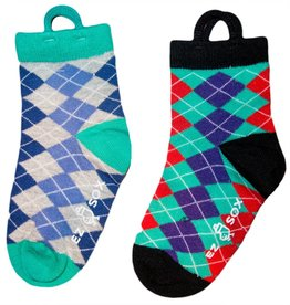 Ezsox Kids EZ Sox 2 Pair Pack Argyle Socks