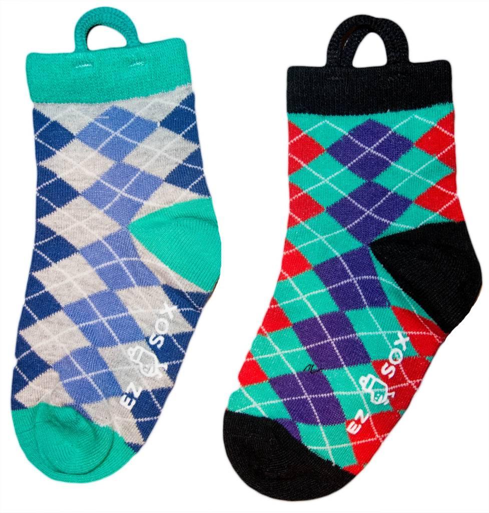 Ezsox Kids EZ Sox 2 Pair Pack Argyle Socks