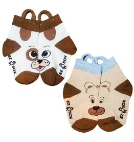 Ezsox Kids EZ Sox 2 Pair Pack Dog & Bear Socks
