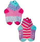 Ezsox Kids EZ Sox 2 Pair Purple Pack Polka Dots & Stripes Socks