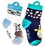 Ezsox Kids EZ Sox 2 Pair Pack Zebra & Giraffe Socks