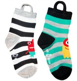 Ezsox Kids EZ Sox 2 Pair Pack Monster Stripes Socks