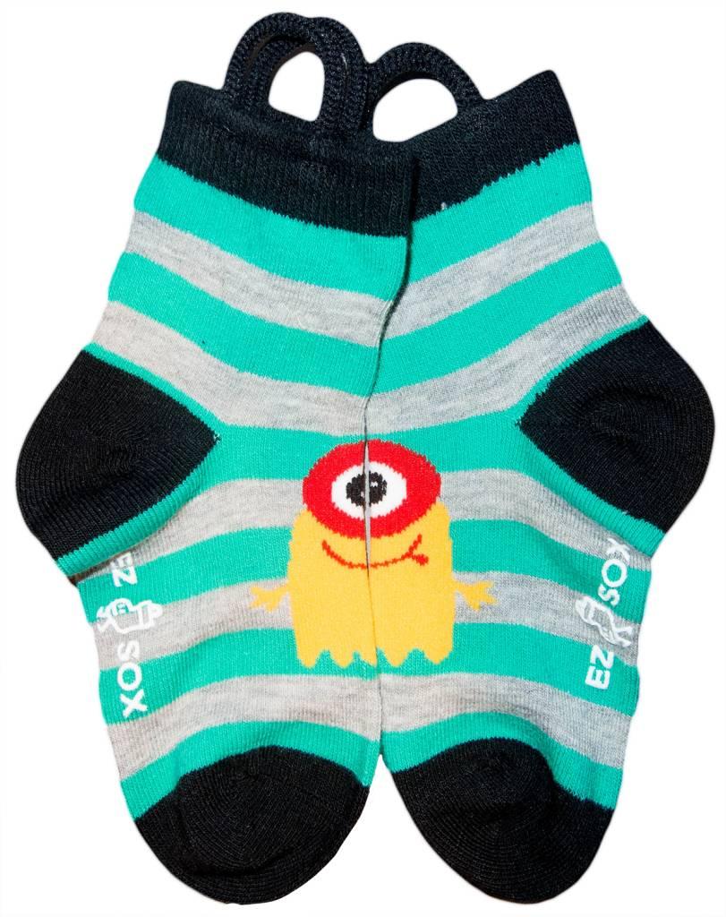 Ezsox Kids EZ Sox 2 Pair Pack Monster Stripes Socks