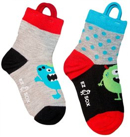 Ezsox Kids EZ Sox 2 Pair Pack Monster Polka Dots Socks