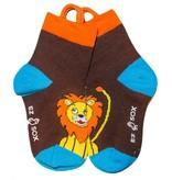 Ezsox Kids EZ Sox 2 Pair Pack Lion & Monkey Socks