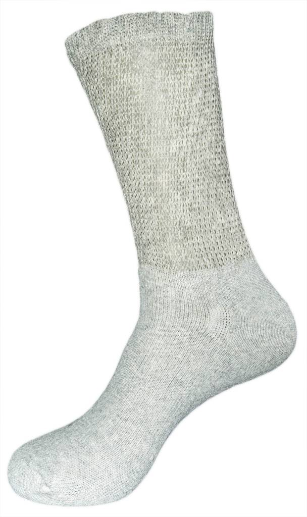 Creswell Sock Mills Diabetic Loose Fit Crew Sock Three Pack