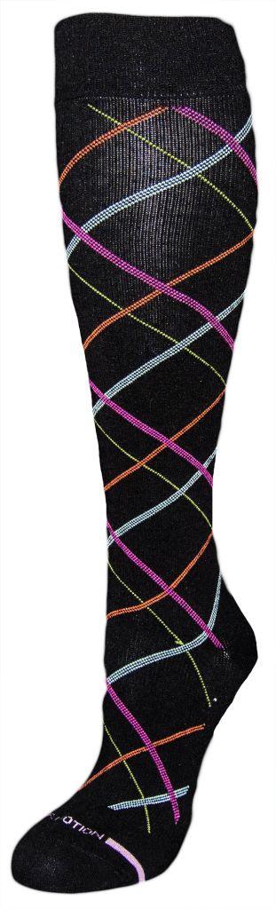 Dr. Motion Dr. Motion Women's Compression Socks: Fancy Argyle Pattern