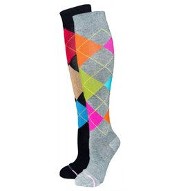 Davco Women's Compression Argyle Socks